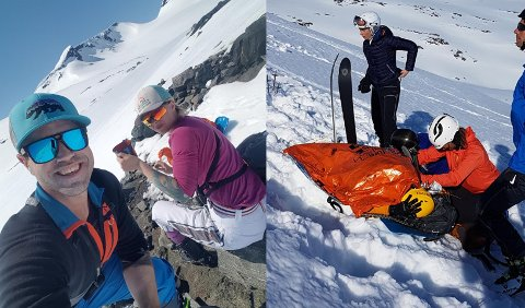 Fantastisk vær og snøkledde fjell ga perfekte rammer for en topptur i pinsen, men for Ann Christin Storteig Nygård fikk turen en annen avslutning enn hun trodde på forhånd.