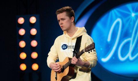 IDOLKANDIDAT:Magnus Hovde i aksjon under audition til årets utgave av Idol. Om han går videre fra audition blir kunngjort under fredagens sending på TV 2.