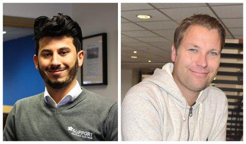 SATSER: Ghazi Khder Jezdin (til venstre) og Jon Terje Johnsen står begge på lista over ukens nyetablerere.