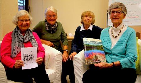 DE OVER 70 UTSATT: Osteoporose er den hyppigste befolkningssykdommen blant kvinner. Åse Johnsen, Aud Karin Nesfeldt, Vivi Baugerud og Ragnhild Skiaker i lokalforeningen ønsker å spre informasjon lokalt.