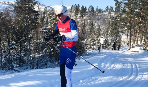 TIL TOPPS: Halvor Sørbø kunne slippe jubelen løs etter at alle løperne hadde kommet i mål.
