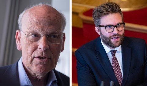 KAMP: Det blir kampvotering om hvem som får 6. plassen på Oslo Høyres stortingsliste Michael Tetzschner (t.v.) og Stefan Heggelund kjemper om den viktige plassen.