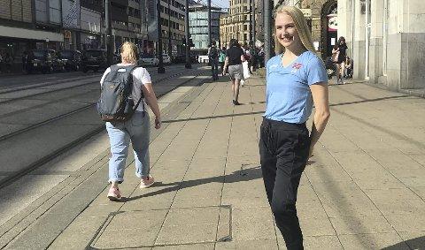 Marie Magnus har vært i Manchester (bildet) hele uken. Men det er på 17. mai det gjelder, da kan det bli hele fem VM-kamper!