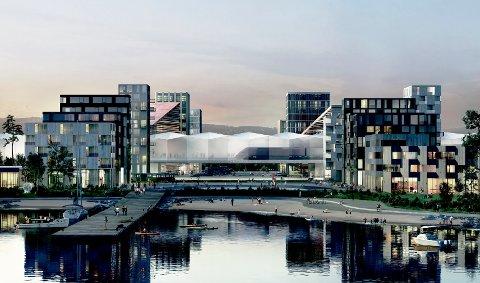 IFjordbyen slik den kan se ut. llustrasjon: Ghilhardi Hellsten Arkitekter - Norsam