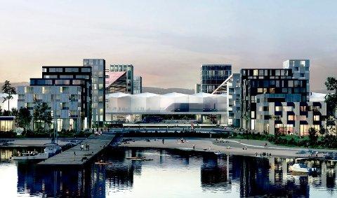 LUFTSLOTT? «Det er en reell mulighet at Fjordbyen ikke lar seg gjennomføre», skriver Lars Haugen i Lier Frp i dette innlegget.