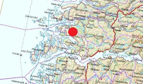 hyllestad kart Firda   Jordskjelv mellom Hyllestad og Askvoll hyllestad kart