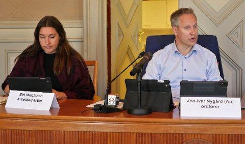 Ordfører Jon-Ivar Nygård sa han kunne godkjenne skjenkebevillinger på 20 sekunder, når han fikk innstillingen fra kommunedirektøren. Bildet er tatt mens formannskapet hadde fysiske møter.
