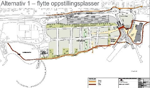 NY HAVN: Tegningen viser hvordan Horten kommune ønsker å utvikle havneområdet fra Gjestehavna til Linden. Nederst til venstre ser vi moloen i sjøen og havneanlegget som er tiltenkt Kriminalomsorgen.