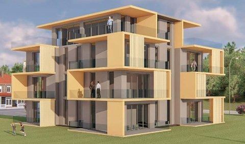 PÅ TANKESTADIET: Bildet illustrerer noen muligheter for hvordan et leilighetsbygg kan se ut.