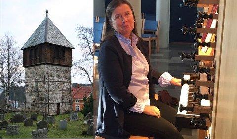 Natalia Medvedeva spiller orgelmusikk med klokkeklang.