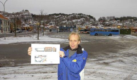 KONTRAST: Det er en stor kontrast mellom disse to bildene av Olav Stokkeland. Det første er fra før utbyggingen startet i 2007, det andre bildet ble tatt onsdag, snart ti år senere. Det har skjedd noe med Sydsiden.