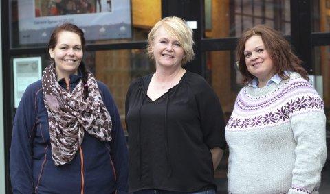 Klare for glitter og glam: Annalisa Mentuccia, Bodil Skjerven og Elise Grønsdal Bakke.