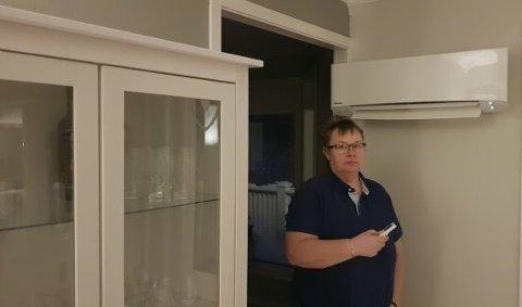FORBRUKET GIKK NED: Gunn Moaksen i Balsfjord investerte i 2010 i en varmepumpe. – Vi så umiddelbart at forbruket var blitt mye lavere på strømregningene. Bare på ett år hadde vi spart nesten 6.000 kroner i strøm, sier Moaksen.