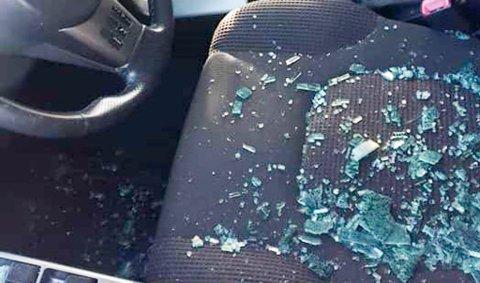 KNUST RUTE: Det var ingenting som ble stjålet i fra bilen. Alarmen gikk, og det var på grunn av den at politiet ble kontaktet av andre forbipasserende i området.