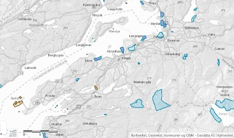 17 VERNEOMRÅDER: Informasjon om hvilke regler som gjelder for Levangers 17 verneområder står i verneforskriften for det enkelte verneområdet. En kan klikke på et verneområde i kartet og finne informasjon som gjelder akkurat der.