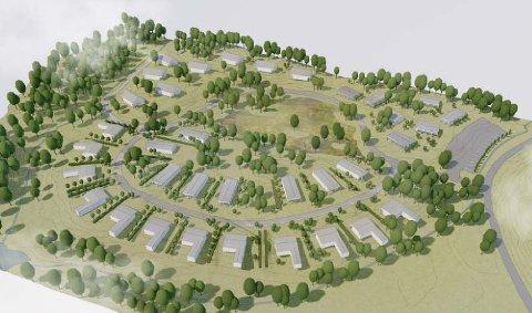 Ny PLAN: Dette er den nye Kammen-planen, slik utbyggerselskapet Resort Invest AS ser den for seg. Tjenna er borte og leilighetsbyggene er erstattet med frittstående hytter.