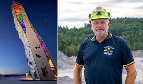 TURISTATTRAKSJON: Vidar Tellefsen tror at Norges høyeste klatretårn, kombinert med næringsparken, vil trekke mange folk til Langrønningen.