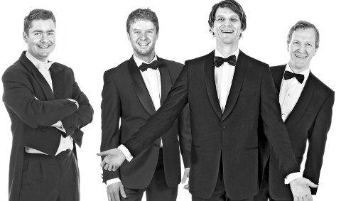 Tenorane: Frå venstre: Aasmund Kaldestad, Henrik Hundsnes, David Fielder og Steffen Horn. Pressefoto