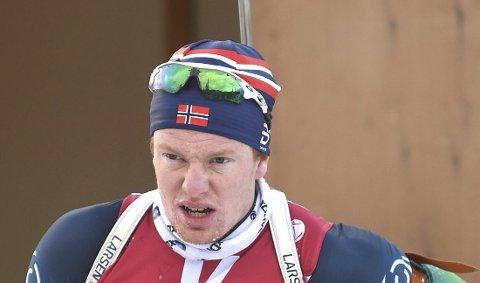 SJUENDEPLASS: herman Dramdal Borge, Svene IL, ble sjuendemann på fellesstarten i NM på Liatoppen.