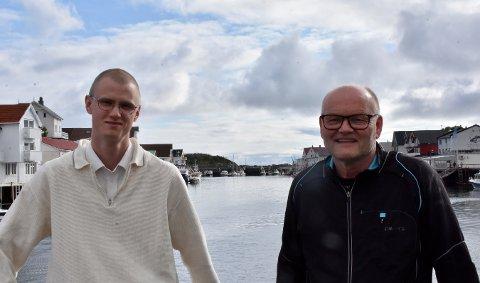 Nestleder og bookingansvarlig for Trevarefest Erlend Klette, sammen med smittevern - og sanitetsansvarlig Rolf Martin Tande er glade for å arrangere festival i Henningsvær.