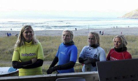 Finaledamene: Guro Aannestad på 1. plass, Mimi, Nora Kvalsvik og Guro Henriksen.