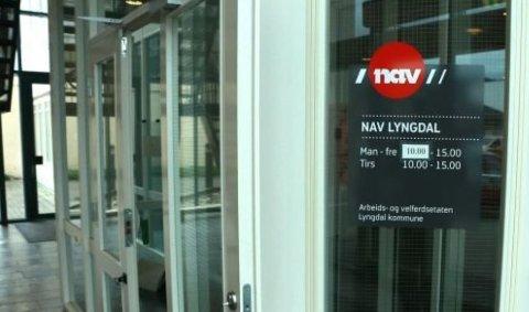 MANGE: Andelen innbyggere på arbeidsavklaringspenger fra Nav var forholdsvis høy i Audnedal og Lyngdal  i fjor.