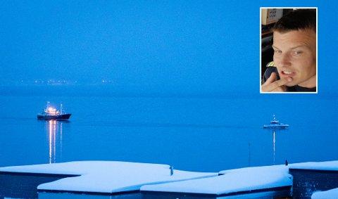 SLEP: Her blir «Ringaskjær» slept til Eidkjosen av Vidar Johnsen som er skipper på «Oscar Tybring IV»