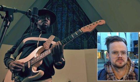 """SAMARBEID: Superstjernen Wycleaf Jean og Carl Christian Lein Størmer (innfelt) jobbet sammen i produksjonen av musikkvideoen til den akustiske versjonen av """"Mystery""""."""