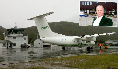 Ordføerer Halvar Wahlgren og Nordreisa kommune vil ha nye flyruter.
