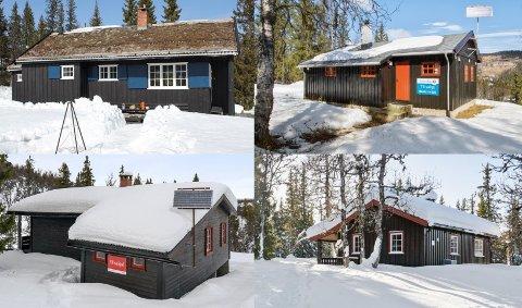 TIL SALGS: Det er rundt 20 hytter til salgs for under én million kroner i Vestoppland.