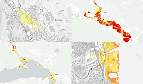 STATISTIKK: Basert på statistikk og det man vet om flom, kan OA og Amedia illustrere hvordan 50-, 100- og 200-årsflom vil ramme i ditt nærområde. Se kartene i saken.