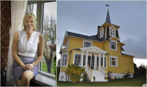 EIER: Lene Kristine Eikeland kjøpte den velkjente Tårnvillaen i Gjøvik i 2017.