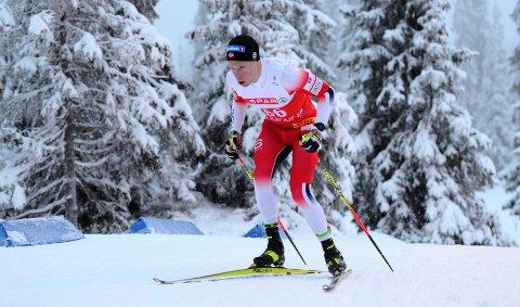 Martin Løwstrøm Nyenget gikk ikke fort nok på dagens 15 kilometer i Falun.