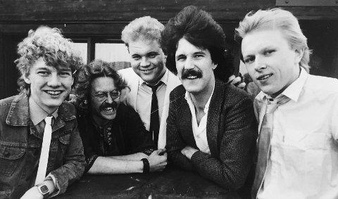 Starten: Dette er fra starten i 1983. F.v. Uno Thorvaldsen, Bjørn Erik Søeland, Tom Kurth, Tor-Inge Rishaug og Mikkel Schille.