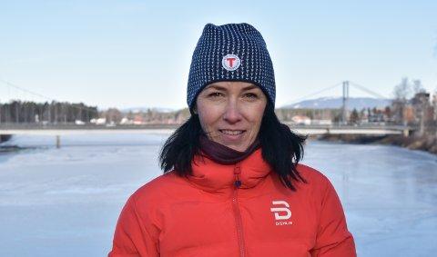 TURGLAD: Monica Nordengen er ny leder i Elverum lokallag av DNT Finnskogen og omegn.