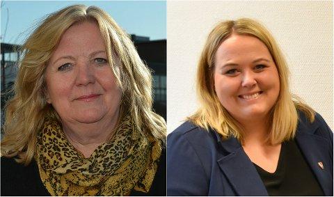 FØLGER OPP: Ordfører Lillian Skjærvik (til venstre) i Elverum vil følge opp Løten-ordfører Marte Larsen Tønseth, som etterlyser drahjelp i bompengesaken.