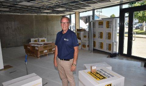 GOD LØSNING: YC-sjef Rolf Gundersrud ser fram til å få Grue Sparebank som leietaker.