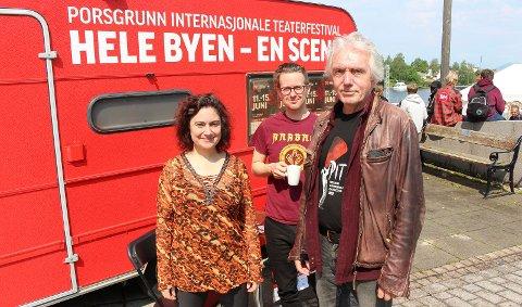 SNART KLART: Anette Röde, Kristian Grennes og Trond Hannemyr.