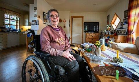 Selv om Gerd Lundlie (71) vet at det trolig ikke nytter, kan hun ikke la være å legge inn protest på at hun ikke lenger har rett til personlig brukerstyrt assistent.