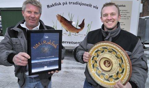 Terje og Mads Kjernsholen vant årets NM i rakfisk. 16. november 2010