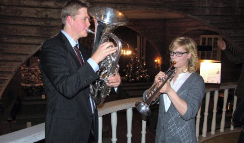 Julaftensgudstjeneste: Johanne Sætherstuen Refseth spilte trompet i Brøttum kirke på julaften. 30. desember 2010