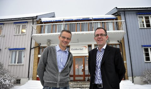 Nytt firma: Energi Smart Norge, daglig leder Lars Baukhol og styreleder Are Koppang. 6. januar 2011