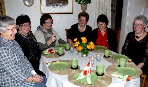 Syforeningen Kosekroken: Oddveig Tørudstad, Solfrid Holmen, Randi Berg, Britt Høisveen, Ruth Gimse og Petra Hagen. 22. januar 2011