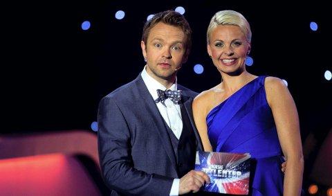 Norske talenter: John Brungot og Marthe Sveberg Bjørnstad skal være programledere i finalen. 26. mai 2011