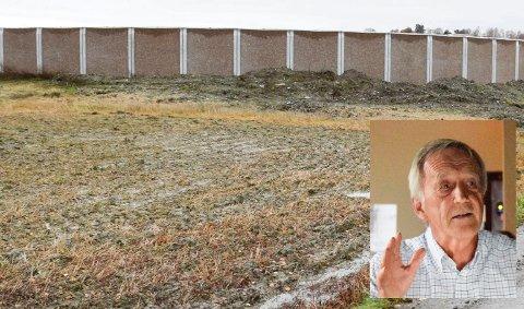 LEGGE LOKK: Hole-politiker Per Christian Gomnæs (innfelt) krever at noe gjøres med biotanken på Selte. Å legge lokk på tanken kan være ett tiltak mot den vonde lukten.