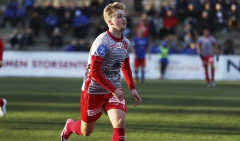 SCORET: A-lagsspiller Ulrich Ness scoret for Strømmen-rekruttene mot Fet.