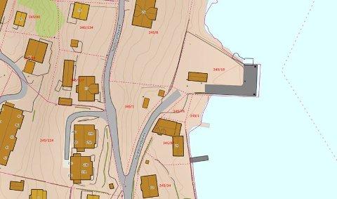 OMRÅDET: Det er havneområdet og området mellom Villa Malla og brygga som Hurum strandhotell AS /Villa Malla har fått dispensasjon til å bygge ut.