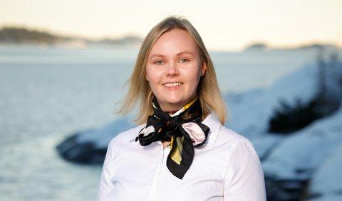 Ny i jobben: Marianne Nilsen kom til Sandefjord som advokatfullmektig i november. Hun er strålende fornøyd med jobben, og tror hun vil trives godt med jobben, byen og det fine været.