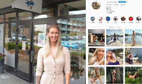 Marie Rege har startet eget selskap hvor kopping og massasje står i fokus. Selv deler hun ivrig fra sitt eget liv på instagram.