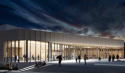 Kulturhuset i Aukra skal stå klart våren 2022.